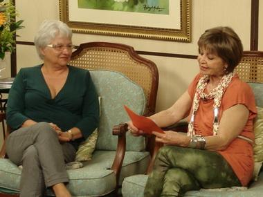 Norma sendo entrevistada pela Marley Soares